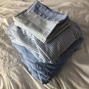 Tommy Hilfiger Blue Stripe & Checkered Full Sheets